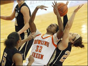 Bowling Green State University's Alexis Rogers led the Falcons with 11 points.