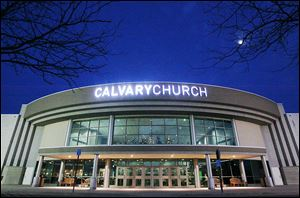 Assembly of God-affiliated Calvary Church will greet members for its grand opening on Sunday at the former Rave Motion Pictures 18-screen cineplex on Conant Street in Maumee.
