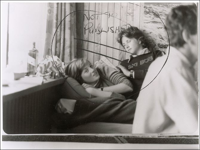 "This image provided by RR Auction shows a photograph marked ""not to be published"" of a teenage Diana Spencer before she became Princess of Wales, with a young friend seated beside her."