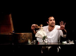"Iranian actor Afshin Hashemi in a scene from ""Hamlet, Prince of Grief,"" which runs this month at The Public Theater at Astor Place as part of the Under the Radar Festival 2013."