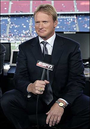 ESPN broadcaster Jon Gruden won a Super Bowl with Tampa Bay and had some successful seasons with Oakland.