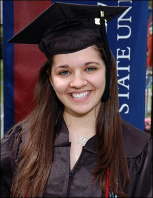 Sandy Hook Elementary School teacher Victoria Soto is shown at her graduation from Eastern Connecticut University.