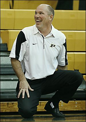 Coach Todd Sims has seen his team start with 11 straight wins. Perrysburg is ranked No. 6 in Ohio in Division I.