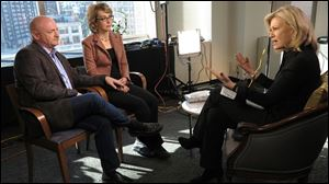 Former U.S. Rep. Gabby Giffords appeared with her husband Mark Kelly tonight on ABC World News with Diane Sawyer.