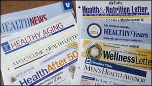 A variety of health-care institutions send wellness newsletters; some of the tips are trite.