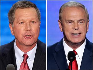 John Kasich, left, and Ted Strickland.