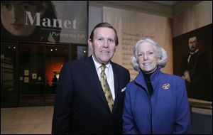 Steve Taylor Sr. and his wife Julie Taylor attend the Block Communications party at the Toledo Museum of Art.