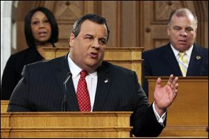 New Jersey Gov. Chris Christie delivers his State Of The State address at the Statehouse, Tuesday in Trenton.