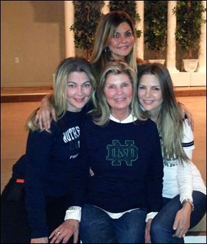 Carol Zilba, center, with her daughters, from left: Lisa Zilba, Juliana Furay, and Mary Zilba.
