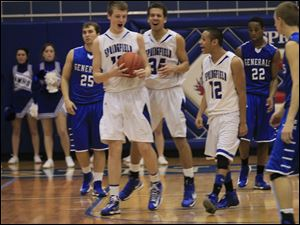 Springfield High School's boys' basketball team defeated Anthony Wayne.