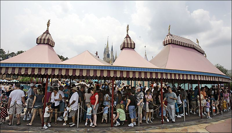 Disney World Wait Line at an Attraction