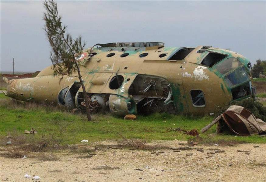 Mideast-Syria-downed-hellicopter