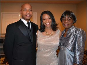 Ricardo and Barbara King with Janelle Butler-Phifer.
