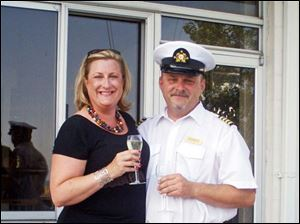 Commodore Ken Kania Jr. and Lady Kristen at the North Cape Yacht Club.