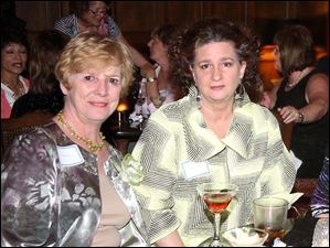 From left, Karen Klein, and Cindy Niggemyer at the Toledo Club.
