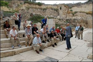 Wood County Sheriff Mark Wasylyshyn, second from left, visits the archaeological site of King Herod's castle during a National Sheriffs' Association trip to Israel in May.