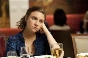 Lena Dunham in a scene from the series 'Girls.'