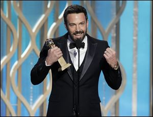 "Ben Affleck won best director for ""Argo"" during the 70th Annual Golden Globe Awards in Beverly Hills, Calif. Affleck's now in an unusual position during Hollywood's long awards season, taking home the top filmmaking trophy at the second-highest film honors knowing he does not have a shot at an Oscar."