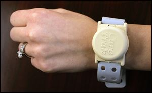 The electronic tracking service will help track Alzheimer's patients and others. The wristwatch-style FM transmitters send signals that can be picked up by receivers three or more miles away.