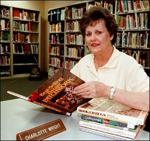 Charlotte Wright, former Erie librarian.