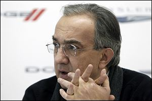 Chrysler Group CEO Sergio Marchionne speaks to the press at the North American International Auto Show in Detroit.