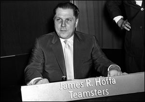 This is a 1959 file photo of Teamsters Union president Jimmy Hoffa.
