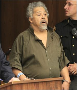 James M. Day, Sr., 66, appears in Toledo Municipal Court today. He is charged with murder for the mutilation death of Joan Watson, 49.