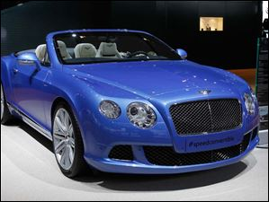 The Bentley Continental GT Speed Convertible.