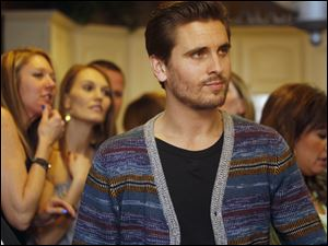 Scott Disick  mingles with guests of Josie Langsdorf, a Monclova Township woman with terminal cancer, at her home.