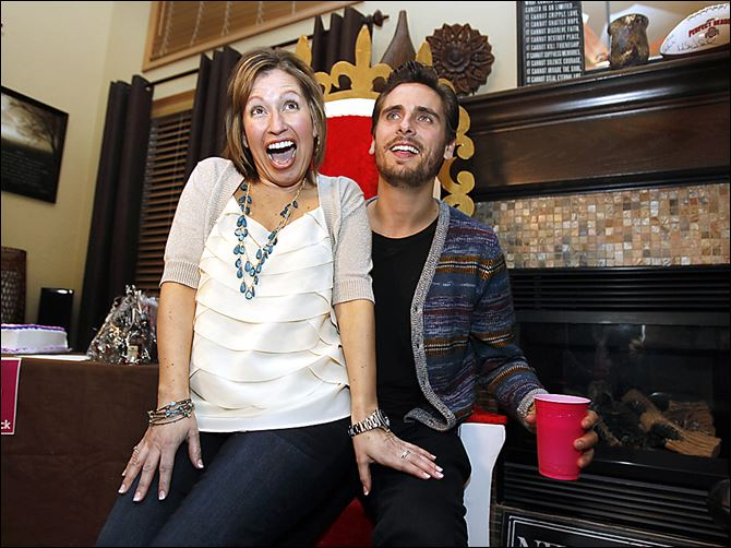 Josie and Scott bucket list Josie Langsdorf, a Monclova Township woman with terminal cancer, sits on Scott Disick's lap on the throne made for him. The TV personality's own Rolex watch, a gift,  graces Ms. Langsdorf's wrist.