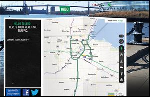 This is a screenshot of the new Ohio Department of Transportation Web site, www.ohgo.com, which features up-to-the minute details on traffic conditions in Ohio.