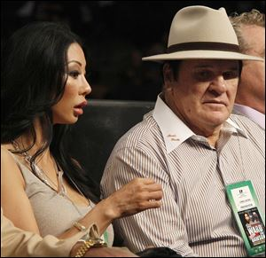 Pete Rose's upcoming reality show is centered on the 71-year-old's engagement to former Playboy model Kiana Kim, left, who is about four decades younger than Rose.