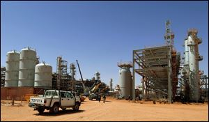 The Ain Amenas gas field in Algeria, where Islamist militants raided and took hostages.