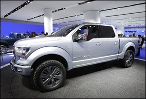 Ford officials say the technology-packed Atlas concept truck, at the auto show in Detroit, represents the future for pickups.
