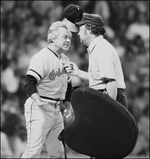 Baltimore Orioles manager Earl Weaver literally