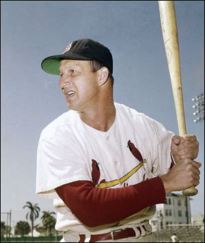 Musial is seen n this March 1958 file photo.