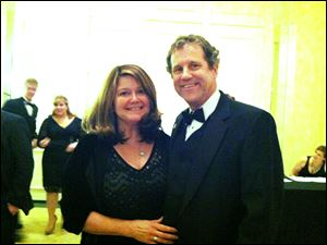 Sen Sherrod Brown and wife Connie Schultz at an Ohio gala at the Mayflower Hotel on Saturday.