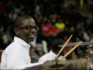 Jonathan Williams, 13, is a student at Grove Patterson Academy and a percussionist in the Toledo Youth Choir.