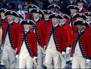 The Army's Old Guard Fife and Drum Corps march in President Barack Obama's inaugural parade.