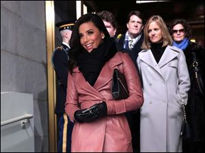 Actress Eva Longoria arrives on the West Front of the Capitol for the Presidential Barack Obama's ceremonial swearing-in ceremony.