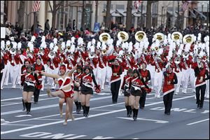 The marching band from Miami University in Oxford, Ohio, is just one of the bands to perform during the inaugural parade after the ceremony.