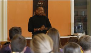 Former UT football star Chuck Ealey spoke today about his