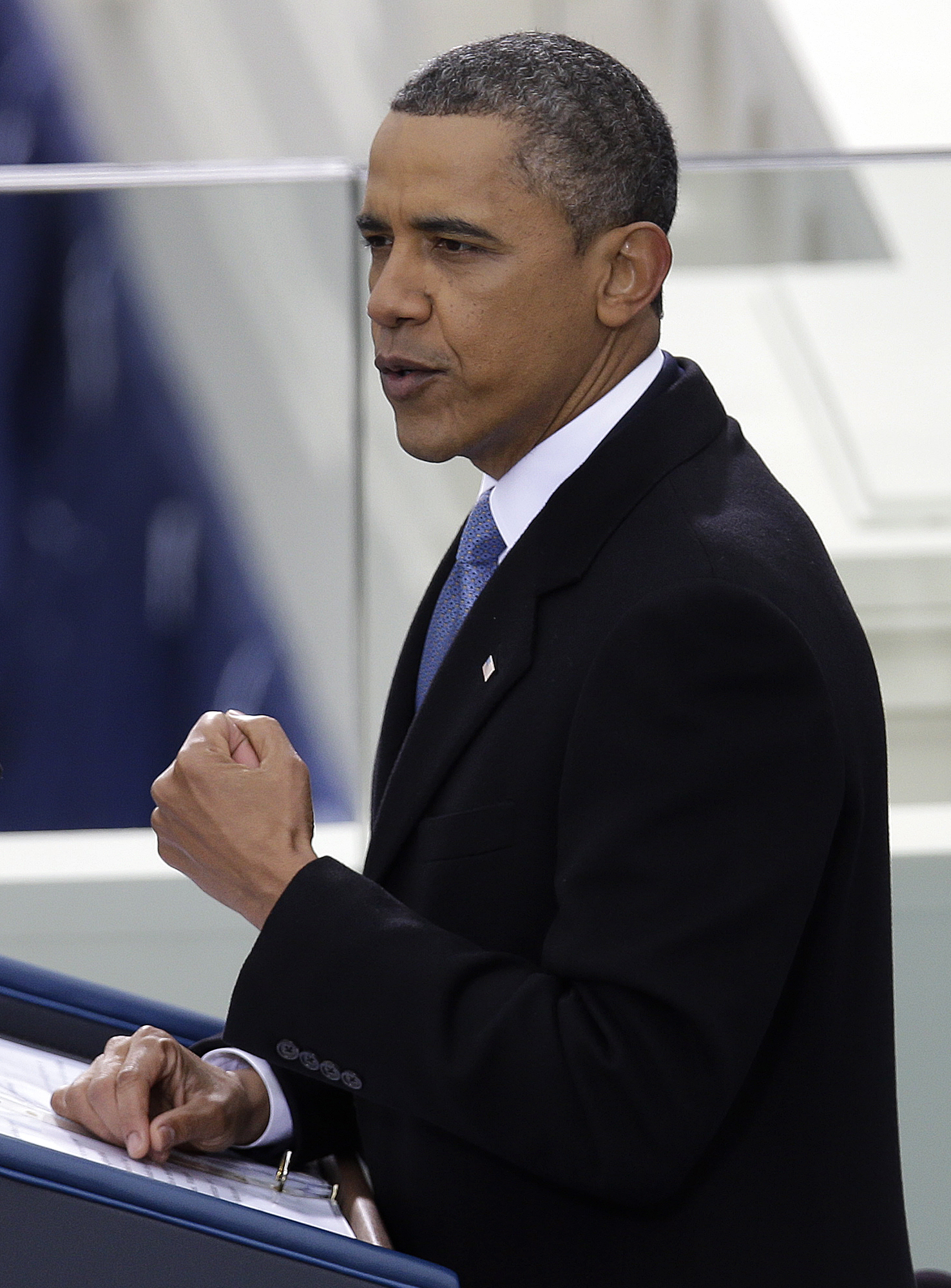 Obama talks about basic principles in inaugural speech ...