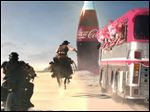 This frame grab provided by Coca Cola shows a moment in the Super Bowl 2013 Coca Cola campaign. The campaign, which will include TV spots as well as a Web site and interaction with consumers on social media sites like Twitter and Instagram, is the beverage maker's latest attempt to capture the interest of people who watch the Big Game with a second screen such as a tablet or smart phone nearby.