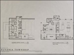 Sylvania Township fire chief Jeff Kowalski presented proposed blueprints for a new Fire Station No. 1.