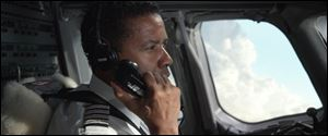 "This film image released by Paramount Pictures shows Denzel Washington portraying Whip Whitaker in a scene from ""Flight."""
