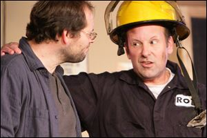 From left, Jason Kramer and Jeff Buchanan in a scene from