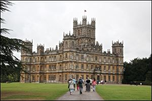 Highclere Castle, Hampshire, England, is better known as 'Downton Abbey' to fans of the PBS show.