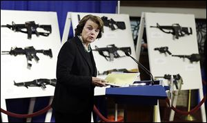 Sen. Dianne Feinstein acknowledged on Capitol Hill the tough road ahead for the gun legislation she introduced on Thursday despite the shock and grief over last month's school shooting in Newtown, Conn.