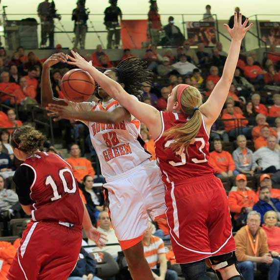BGSU-s-Alexis-Rogers-is-fouled-by